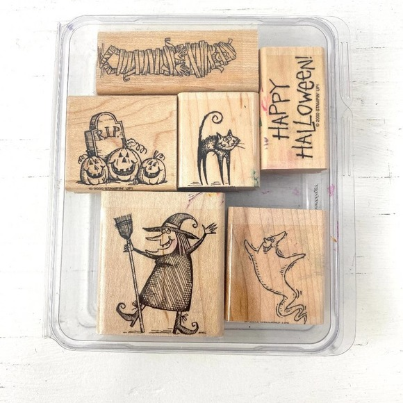 Stampin' Up! Halloween Wood Mounted Stamps